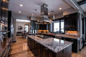 black kitchen cabinets with white marble countertops. Dark Cabinets White Countertop Black And Desire Marble Kitchen With Countertops