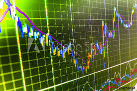 Professional Stock Chart Stock Market Graph On The Screen Professional Market