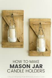 Mason Jar Candle Holders How To Make Hanging Mason Jar Candle Holders O Grillo Designs