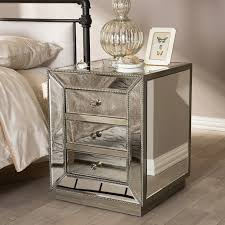 fabulous mirrored furniture. Fabulous Mirror Night Stand Your House Concept: Nightstands: Tall Bedside Tables Small Mirrored Furniture O