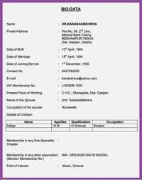 format of marriage resume resume format for marriage free download biodata format download for