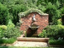 garden fountain outdoor fountains orange county whole pottery orange country california wall brick plant tree