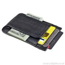 mens money clip leather wallet wallet s zodaca multicolor zodaca credit card id slot holder front