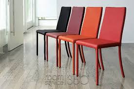 brilliant red leather dining chairs nicole leather italian modern dining chair antonello italia