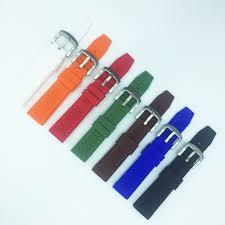 <b>Rubber Silicone</b> 16mm <b>18mm 20mm 22mm</b> 24mm Solid Watch ...