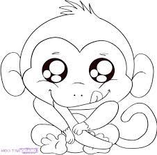 Better Monkey Coloring Sheets U0061 Luxurious Free Monkey Coloring