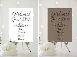 A4 A5 Wedding Sign Polaroid Guest Book