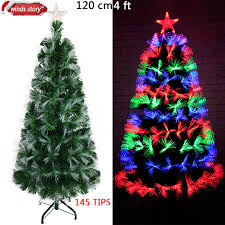 Christmas tree Fiber optic LED Artificial Chrismas tree Green Flash Indoor Xmas  trees gift christmas decorations for home 2017
