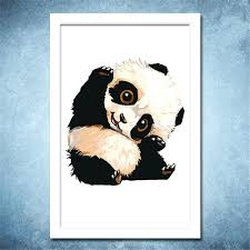 marvellous canvas acrylic painting cute panda cartoon poster on canvas acrylic painting abstract wall art picture marvellous canvas acrylic painting