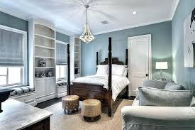 blue and white guest bedrooms gray bedroom with built in window seats transitional home improvement amusing