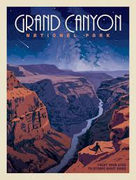 National Parks Posters Anderson Design Group Grand Canyon National Park Star Gazing Anderson Design Group