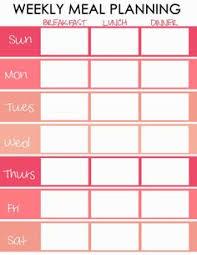plan your menu for the week using this free weekly menu planner