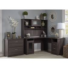 bush furniture cabot collection l desk with hutch and lateral file