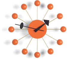 george nelson ball clock in orange  hivemoderncom