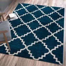 sydney lulu s lattice trellis navy blue 5 ft x 7 ft modern area rug