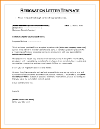 Resign Letter Format In Word Resignation Letter Template Word Collection Letter Cover Templates
