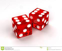 A picture of two dice