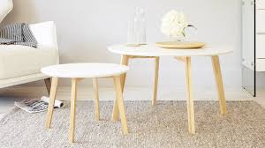 modern white and oak coffee round oak coffee table