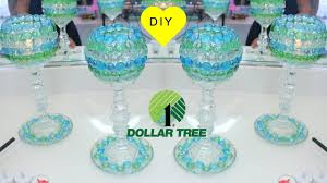 diy dollar tree mosiac glass goblet candle holders room decor you