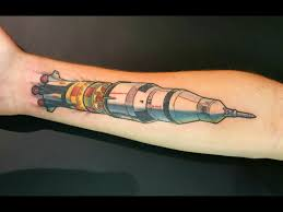 Apollo 11 Saturn V Rocket Tattoo By Me Harry Catsis Bound By
