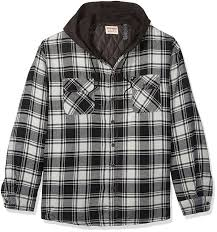 Amazon.com: Wrangler Authentics Men's Big and Tall Long Sleeve ... & Amazon.com: Wrangler Authentics Men's Big and Tall Long Sleeve Quilted  Lined Flannel Shirt Jacket With Hood, Biking Red With Gray Hood, 3XL:  Clothing Adamdwight.com