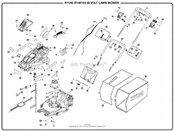 homelite ry40104 40 volt lawn mower mfg no 107928023 parts general assembly part 1