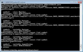 Java Pattern Compile