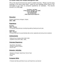 Resume Sample Student Pdf Template Without Work Experience Templates