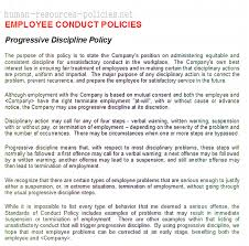 disciplinary policy template. Sample Human Resources Policies Sample Procedures for Small