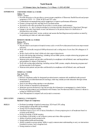 medical coding resume. Medical Coder Resume Samples Velvet Jobs