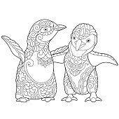 Cartoon Pinguïn Kleurplaat Clip Art Download 1000 Clip Arts Pagina