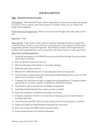 Teacher Job Description Template Resumes How To Make A Resume