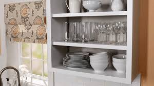 how to convert kitchen cabinets open shelving better homes pertaining decorations 18