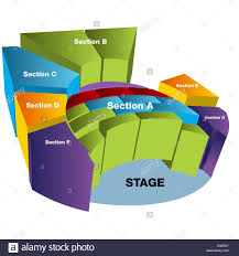 Assembly Hall 3d Seating Chart Stage Seating Cut Out Stock Images Pictures Alamy