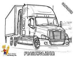 Small Picture Fancy Semi Truck Coloring Pages 12 For Your Coloring Site with