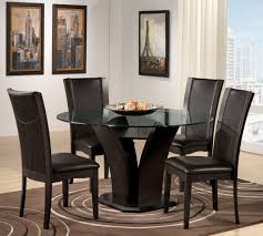 modern black round dining table. Full Size Of Home Furnitures Sets:black Round Kitchen Table Set Glass Top Modern Black Dining T