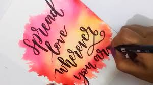 Calligraphy Backgrounds How To Diy Water Color Background Using Tombow Dual Brush Pens Easy Watercolor Backgrounds