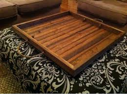 ottoman wood tray wooden tray rustic