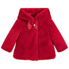 Designer Coats And Jackets Baby Girls Red Fur Jacket For Girl By Mayoral Discover More