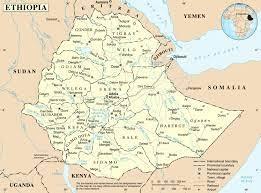 خريطة مفصلة إثيوبيا - الخريطة السياسية إثيوبيا (شرق أفريقيا - أفريقيا)