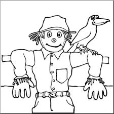 scarecrow clip art black and white. Clip Art Scarecrow  Abcteachcom Preview And Black White