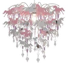 Unicorn Chandelier Children Bedroom Lamp Shade For Girls Nursery