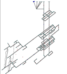 Реферат Повышение устойчивости проветривания выработок шахты  Рисунок 1 Компьютерная модель шахты <q>Торецкая< q> в программном
