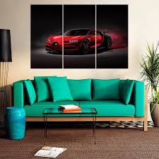 Shop bugatti posters and art prints created by independent artists from around the globe. Bugatti Chiron Sports Car Poster Canvas Print Art Home Decor Wall