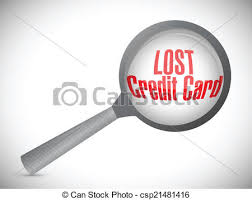 Lost Credit Card Under Investigation Illustration
