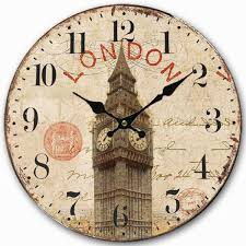 vintage style clock. Perfect Style Retro Vintage Style Large Clock UK London Big Ben Home Decorative  Wall Wood 34CM For AliExpress