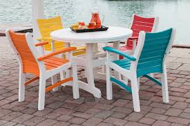 POLYWOOD Vineyard Recycled Plastic 18 In Round Side Table Recycled Plastic Outdoor Furniture Reviews