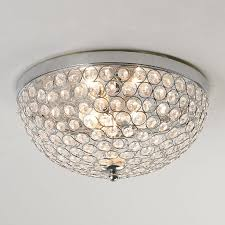 appealing crystal flush mount lighting perfect with jewel ceiling light chrome circles frame hundreds of cut waterford to inspire your home decor