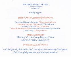 nstp community service essay essay for nstp allielush wordpress com nstp towards quality service training essay dissertation extension letter