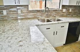 quartz countertops with backsplash project kitchen remodel brier white quartz countertop with dark backsplash quartz countertops with backsplash